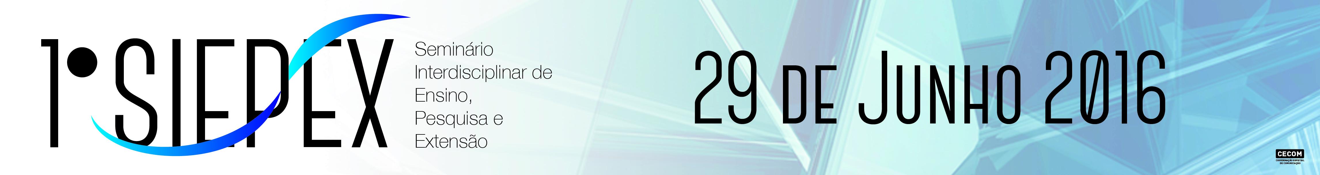 O Instituto Federal Catarinense Campus Videira, apoiado na missão de proporcionar educação profissional atuando em ensino, pesquisa e extensão, realizará o  1º SIEPEX - Seminário Interdisciplinar de Ensino, Pesquisa e Extensão  .  O I SIEPEX tem como objetivo socializar os resultados de trabalhos de ensino, pesquisa e extensão, desenvolvidos por servidores da instituição.   Será realizado no dia 29 de junho de 2016, no auditório do campus Videira, sendo que a ordem das apresentações será definida por meio sorteio, na ocasião do evento.   Mais informações no setor de Estágios e Extensão.